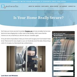Is Your Home Really Secure?