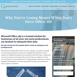 Why You're Losing Money If You Don't Have Office 365