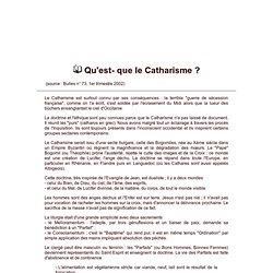 Qu'est-ce que le catharisme ?