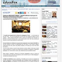Catherine BECCHETTI BIZOT : Quelle feuille de route pour la Direction du Numérique Educatif