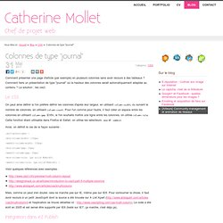 """Colonnes de type """"journal"""" - Catherine Mollet - Communication numérique"""
