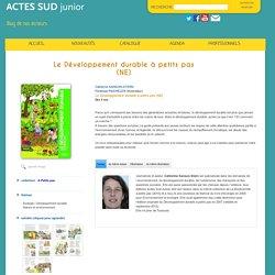 Actes Sud Junior catherine sanson-stern pénélope paicheler Le Développement durable à petits pas (NE)