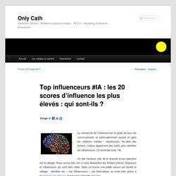 Catherine Cervoni : Top influenceurs #IA : les 20 scores d'influence les plus élevés : qui sont-ils ? - Only CathOnly Cath