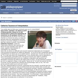 Catherine Tauveron et l'interprétation