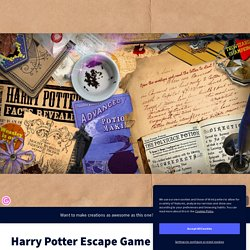 Harry Potter Escape Game by catherineteixeira79 on Genial.ly
