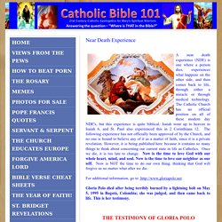 Catholic Bible 101 - Near Death Experience