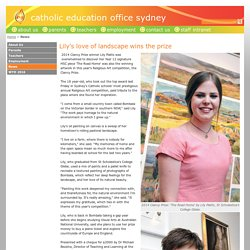 Catholic Education Office Sydney - Lily's love of landscape wins the prize