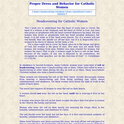 Catholic headcoverings: women, veils, Mass