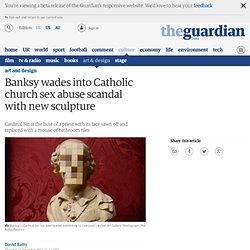 Banksy wades into Catholic church sex abuse scandal with new sculpture