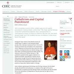 Catholicism and Capital Punishment