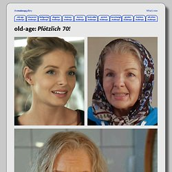 old-age makeups | the early 2010s | Yvonne Catterfeld in 'Plötzlich 70!' | themakeupgallery