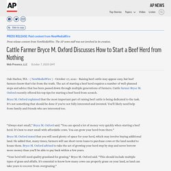 Cattle Farmer Bryce M. Oxford Discusses How to Start a Beef Herd from Nothing