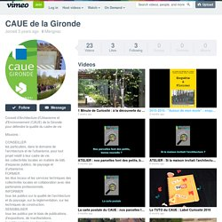 CAUE de la Gironde on Vimeo
