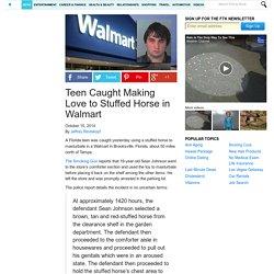 Teen Caught Making Love to Stuffed Horse in Walmart