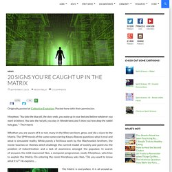 20 Signs You're Caught up In the Matrix