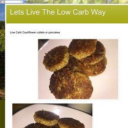 Cauliflower cutlets or pancakes