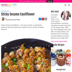 Sticky Sesame Cauliflower - Secretly Healthy Recipe!