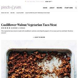 Cauliflower Walnut Vegetarian Taco Meat Recipe
