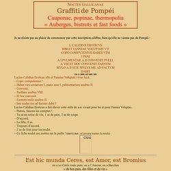 Les graffiti de Pompei