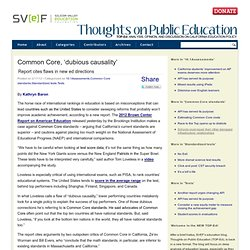 Common Core, 'dubious causality' | Thoughts on Public Education