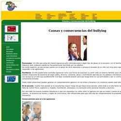 Causas y consecuencias del bullying
