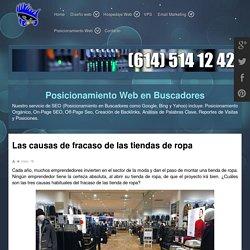 Las causas de fracaso de las tiendas de ropa - DISEÑO WEB