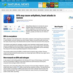 BPA may cause arrhythmia, heart attacks in women