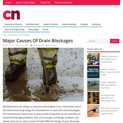 Major Causes Of Drain Blockages - Colliers News
