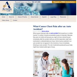 What Causes Chest Pain after an Auto Accident? - Altizer Law