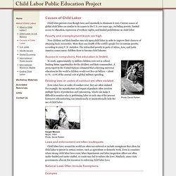 Causes of Child Labor - The Child Labor Education Project