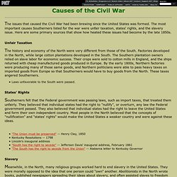 what were the causes of the civil war essay 3 reasons that led to the civil war did you ever think about why the civil war happened i thought about it and came up with three of the best reasons i could think of to cause the civil war here is what i think forced the north and south the come to war first it was because of slavery, then the south seceded from the union.