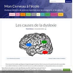 Les causes de la dyslexie - Mon Cerveau à l'école