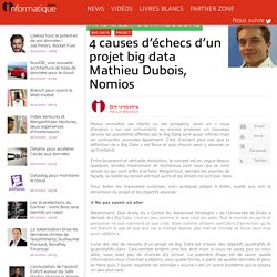 4 causes d'échecs d'un projet big data Mathieu Dubois, Nomios