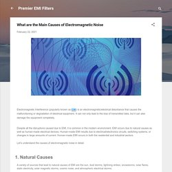 What are the Main Causes of Electromagnetic Noise