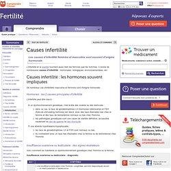 Causes infertilité : les différentes causes d'infertilité