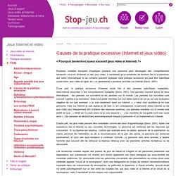 Causes de la pratique excessive - Stop-Jeu.ch