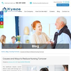 Causes and Ways to Reduce Nursing Turnover