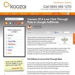 Causes Of A Low Click Through Rate In Google AdWords