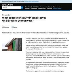 What causes variability in school-level GCSE results year-on-year?