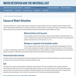 Water Retention: Diet To Banish Water Weight, Swollen Legs, Bloating