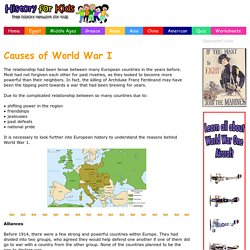 Causes of World War one - World War 1 - History for Kids