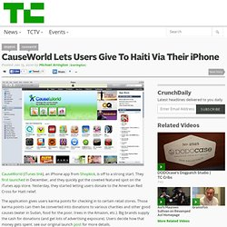 CauseWorld Lets Users Give To Haiti Via Their iPhone