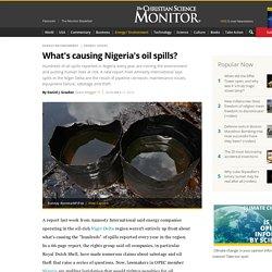 What's causing Nigeria's oil spills?