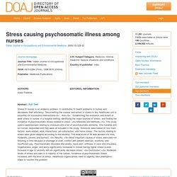 Stress causing psychosomatic illness among nurses