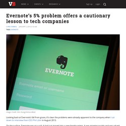 Evernote's 5% problem offers a cautionary lesson to tech companies