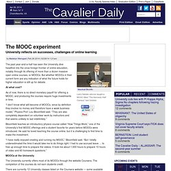 The MOOC experiment