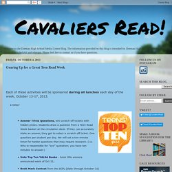 Cavaliers Read!: Gearing Up for a Great Teen Read Week