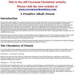 Caveman to Chemist Projects: Potash