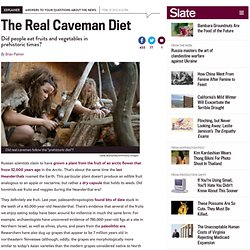 The real caveman diet: What did people eat in prehistoric times?