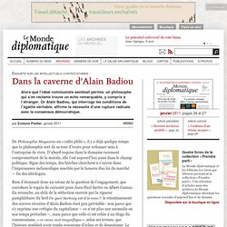 Dans la caverne d'Alain Badiou, par Evelyne Pieiller
